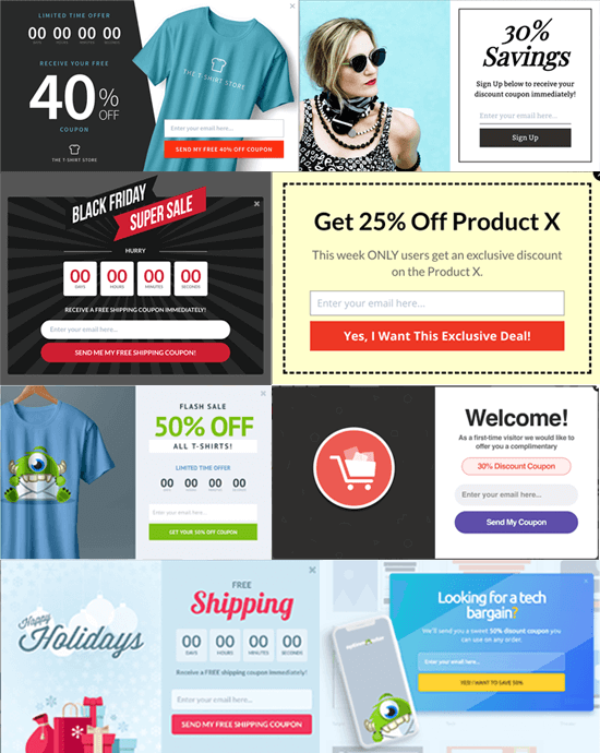 Ví dụ Popup Coupon OptinMonster