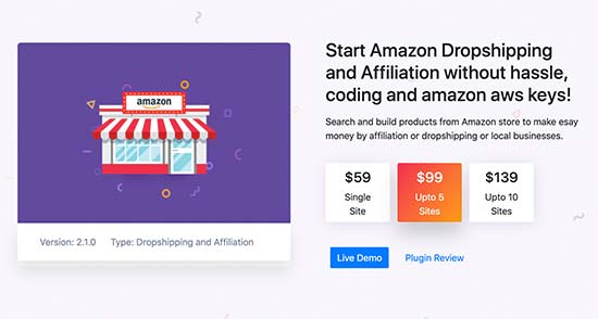 WP Amazon Affiliate en Dropshipping