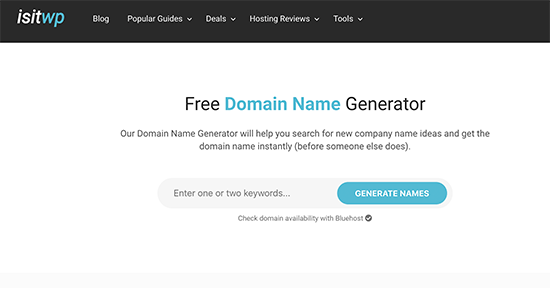 IsItWP Domain Generator