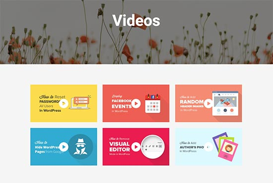 WordPress'te bir video galerisi