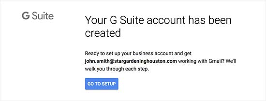 G Suite-account gemaakt