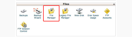 File Manager-pictogram in cPanel
