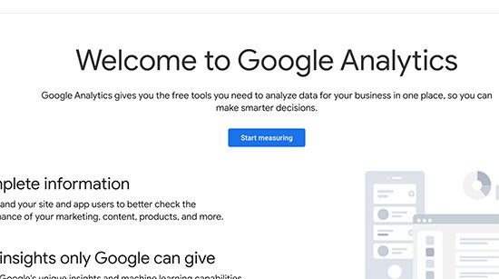 Nag-sign up ang Google Analytics