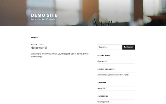 Standard WordPress-tema